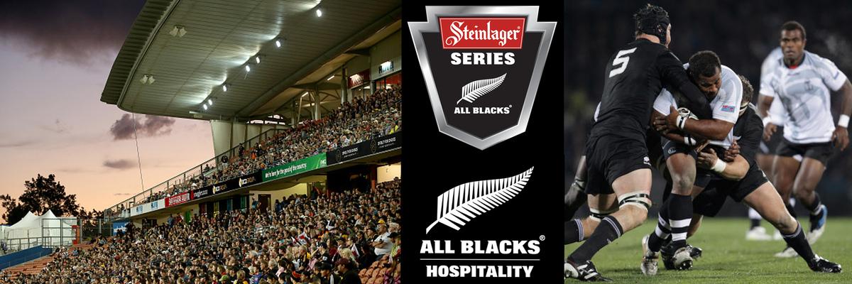 AB v FIJI - FMG Stadium Waikato - All Blacks Hospitality Banner