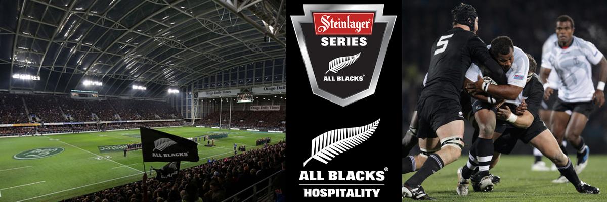 AB v FIJI - Forsythe Barr Stadium  - All Blacks Hospitality Banner